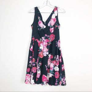 MORGAN beautiful flower dress size 38 cotton